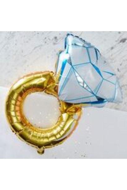 Folieballon Gouden Ring