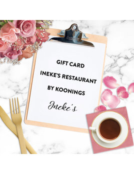 Crew I Do Giftcard Ineke's Restaurant by Koonings