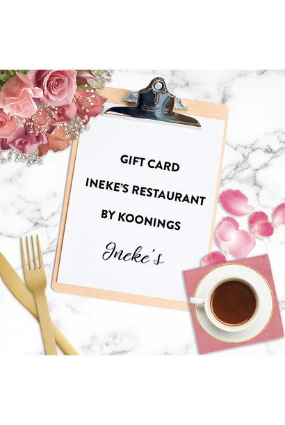 Giftcard Ineke's Restaurant by Koonings