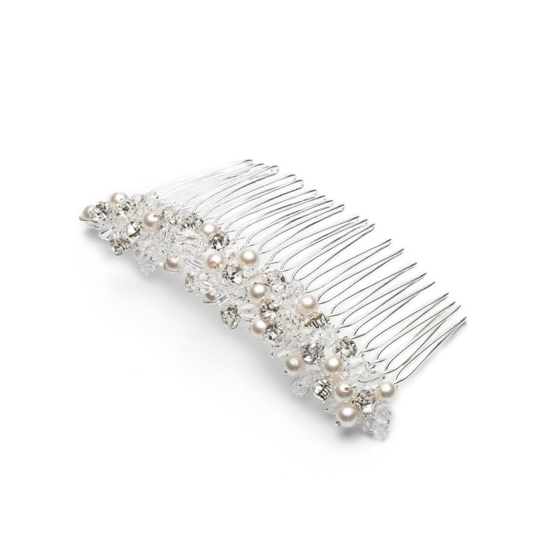 Abrazi haarspeld met parels en steentjes-1