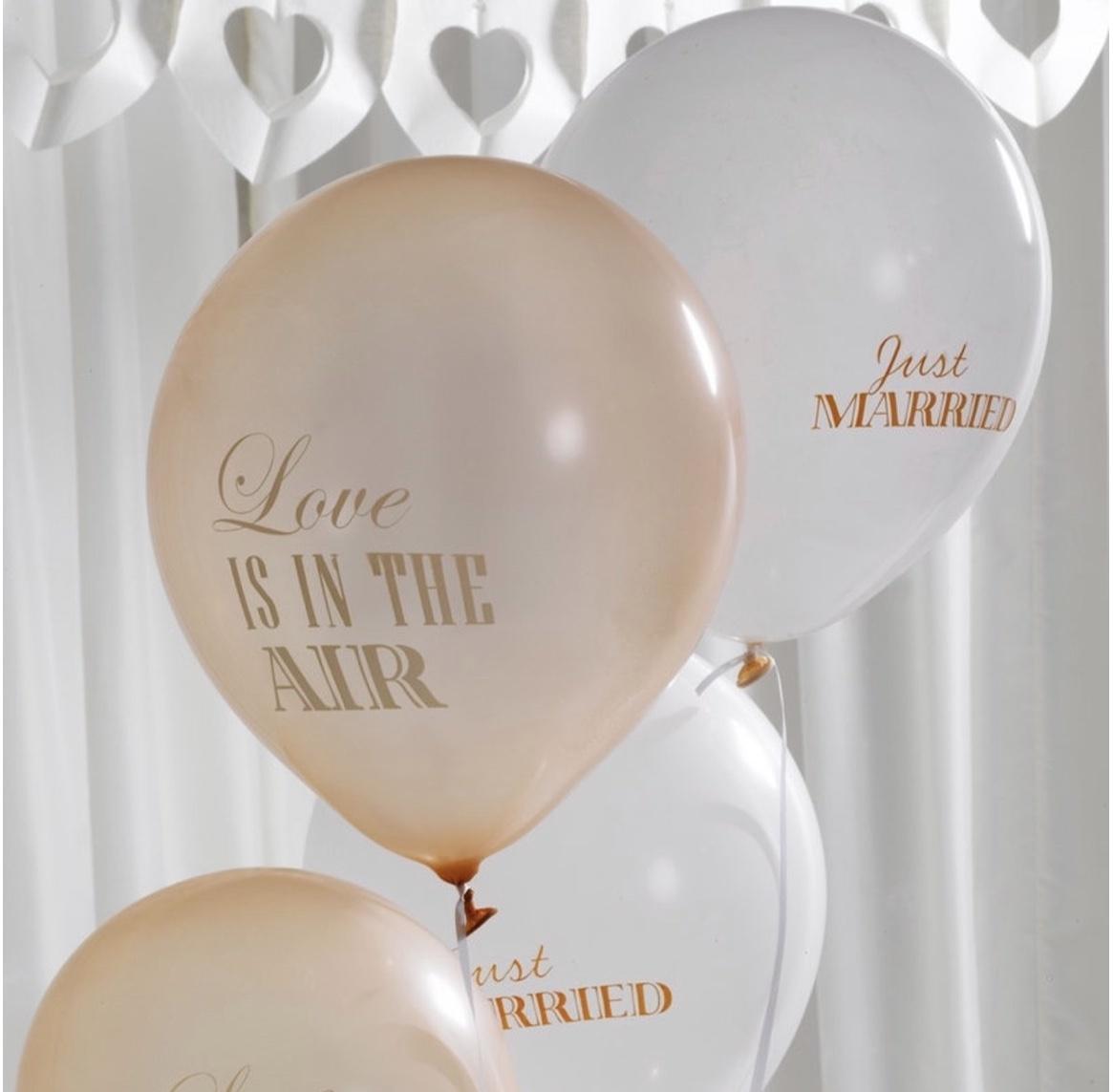 Chiq Boutique ballonnen ivoor-goud 8 stuks-1