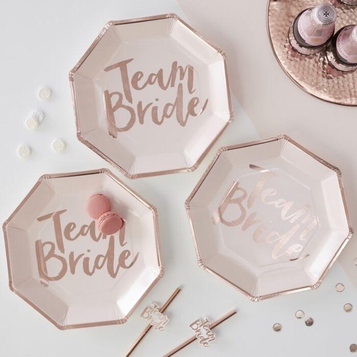 Team bride papieren borjes rosé 8 stuks-1