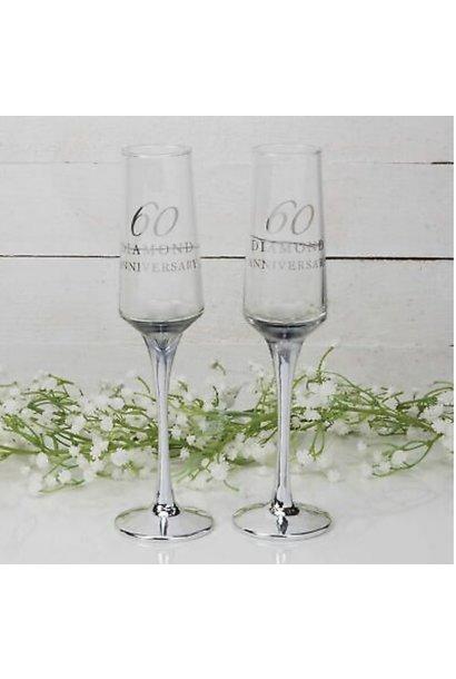 Diamanten huwelijk champagne glazen