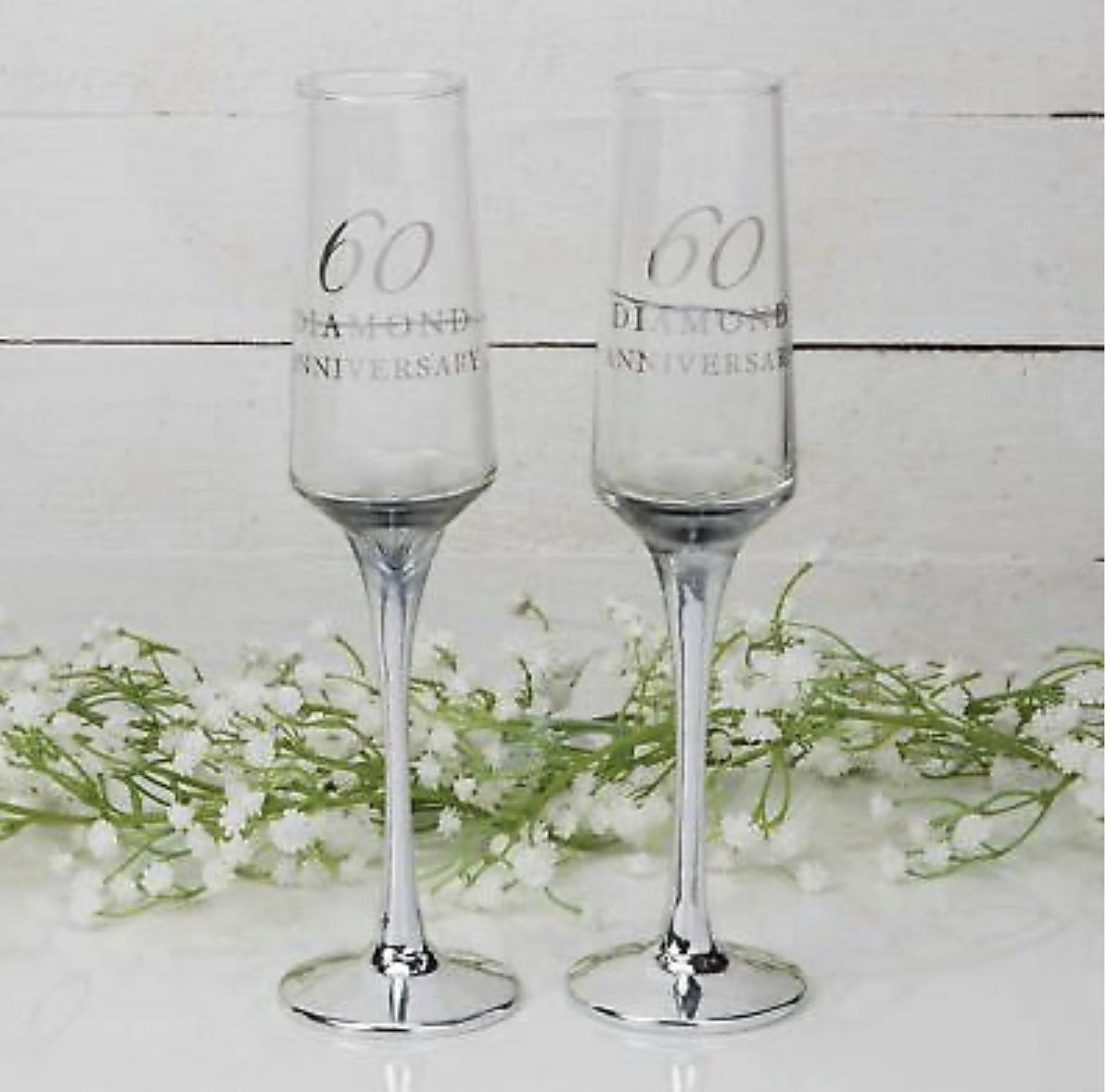 Diamanten huwelijk champagne glazen-1