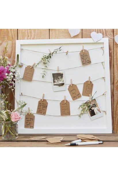 Wedding guestbook frame
