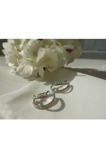 Silver small hoops