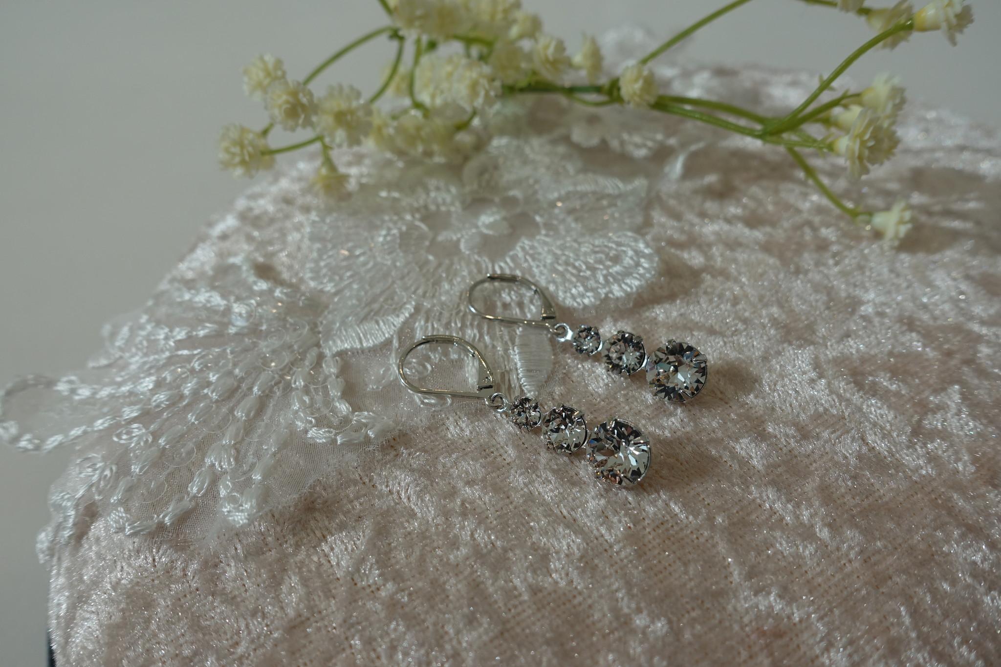 Zilveren diamantjes hanger-1