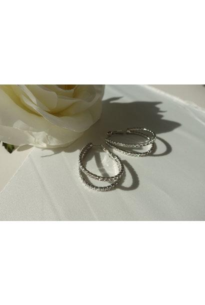 Silver big hoops