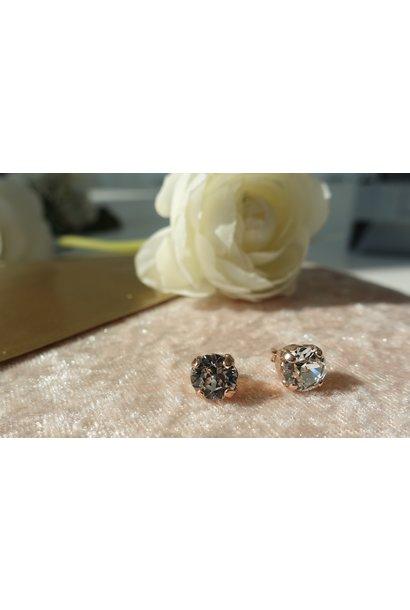 Rose diamanten knopjes