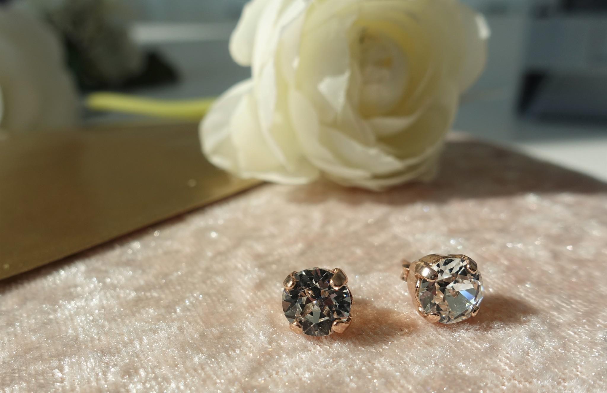 Rose diamanten knopjes-1