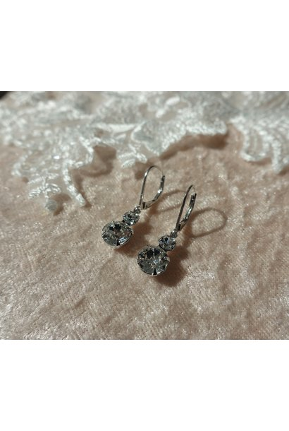 Zilveren diamanten hangers