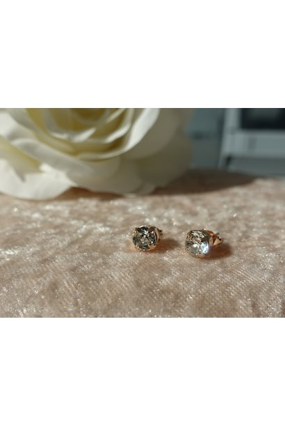 Kleine diamanten knopjes rose