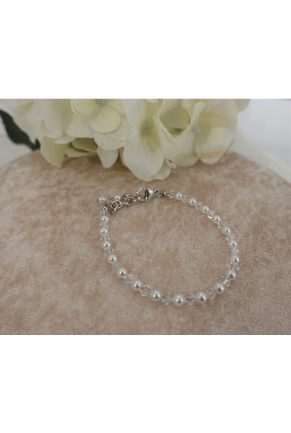 Crystal parel armband