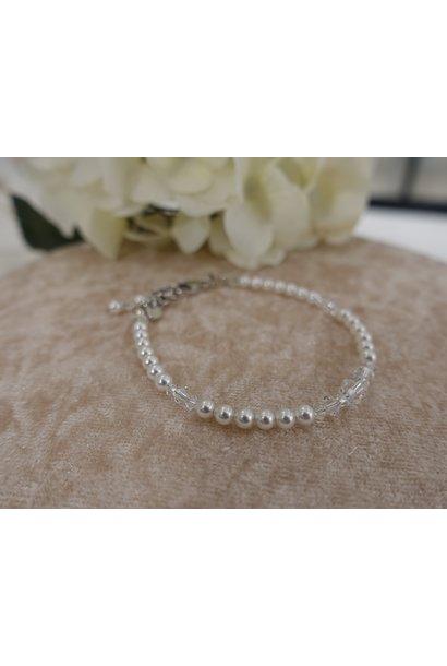 Parel kristal armband