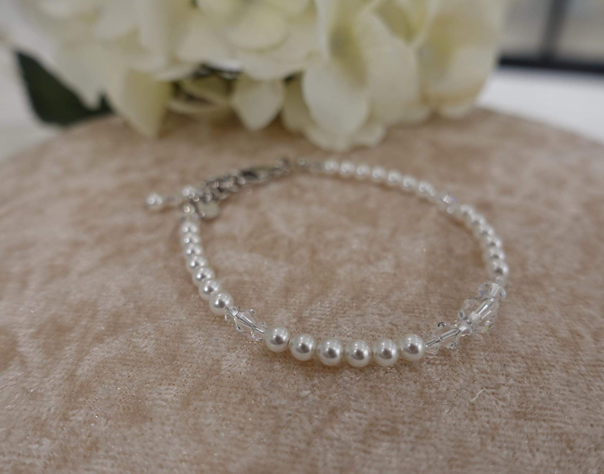 Parel met kristal armband-1