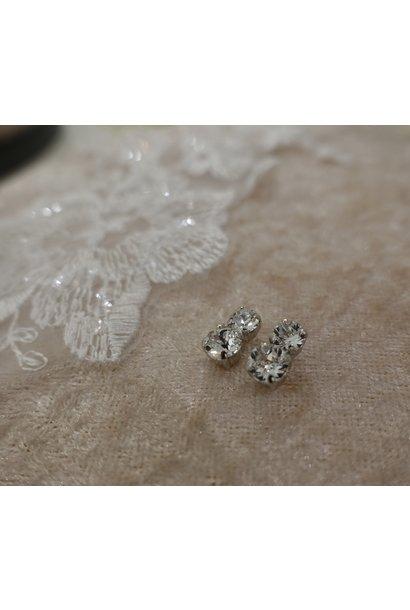 Dubbele diamanten knopje