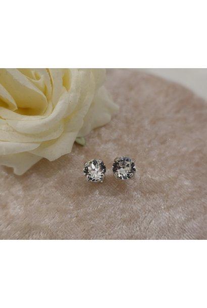 Zilver diamanten knopjes