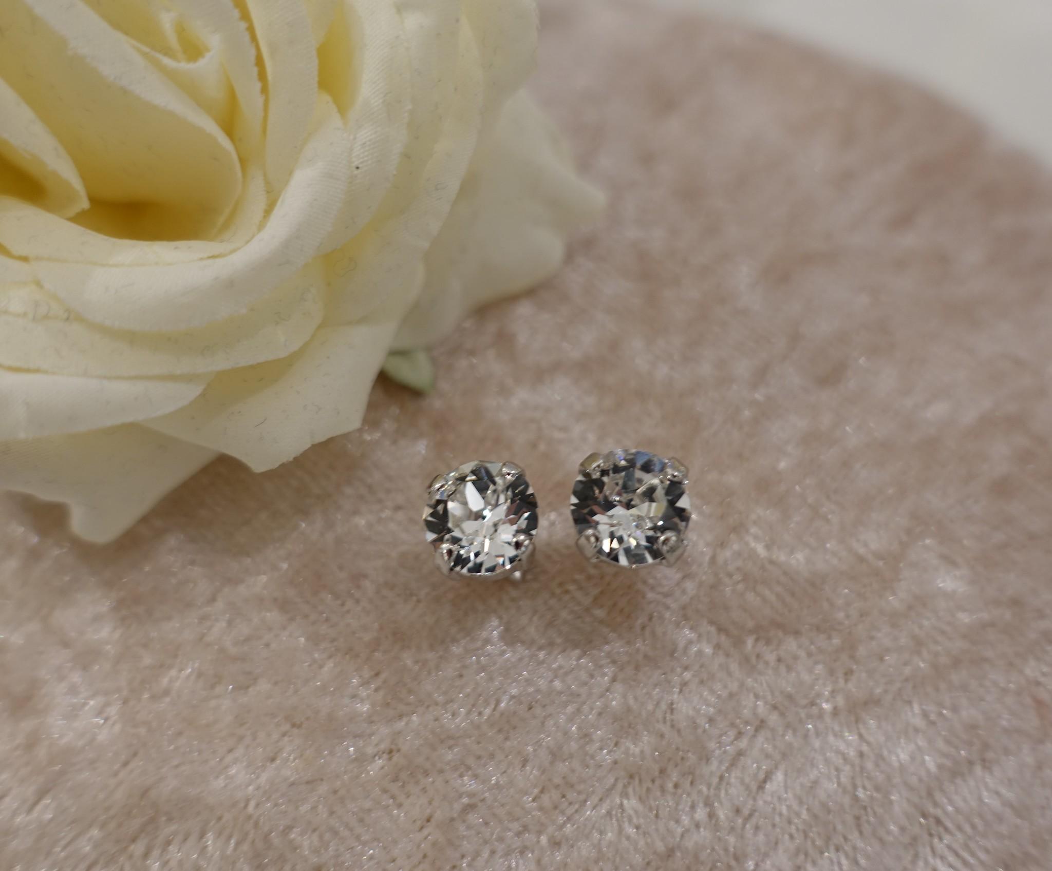 Zilver diamanten knopjes-1