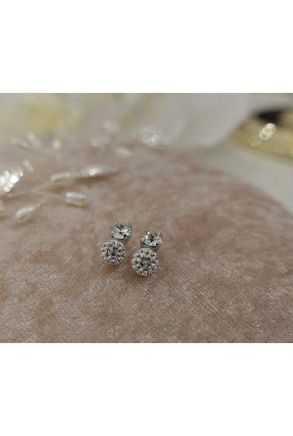 Knopje diamant met bolletje, 8mm