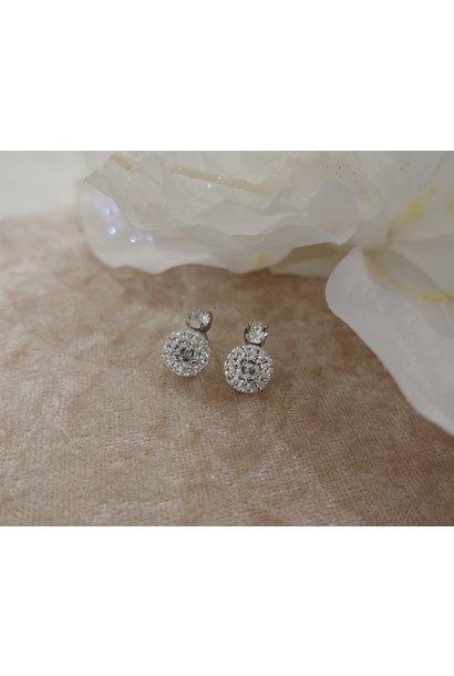Knopje diamant met bolletje, 10mm