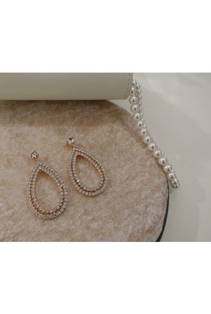 Rose hanger druppel diamant