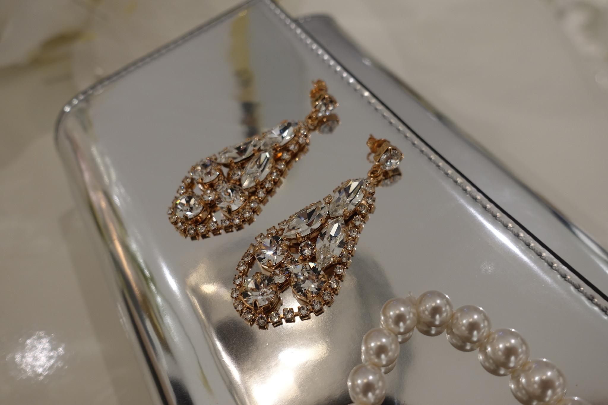 Rose hangers met diamanten-1