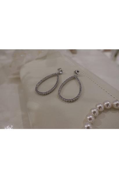 Zilver hanger druppel enkel
