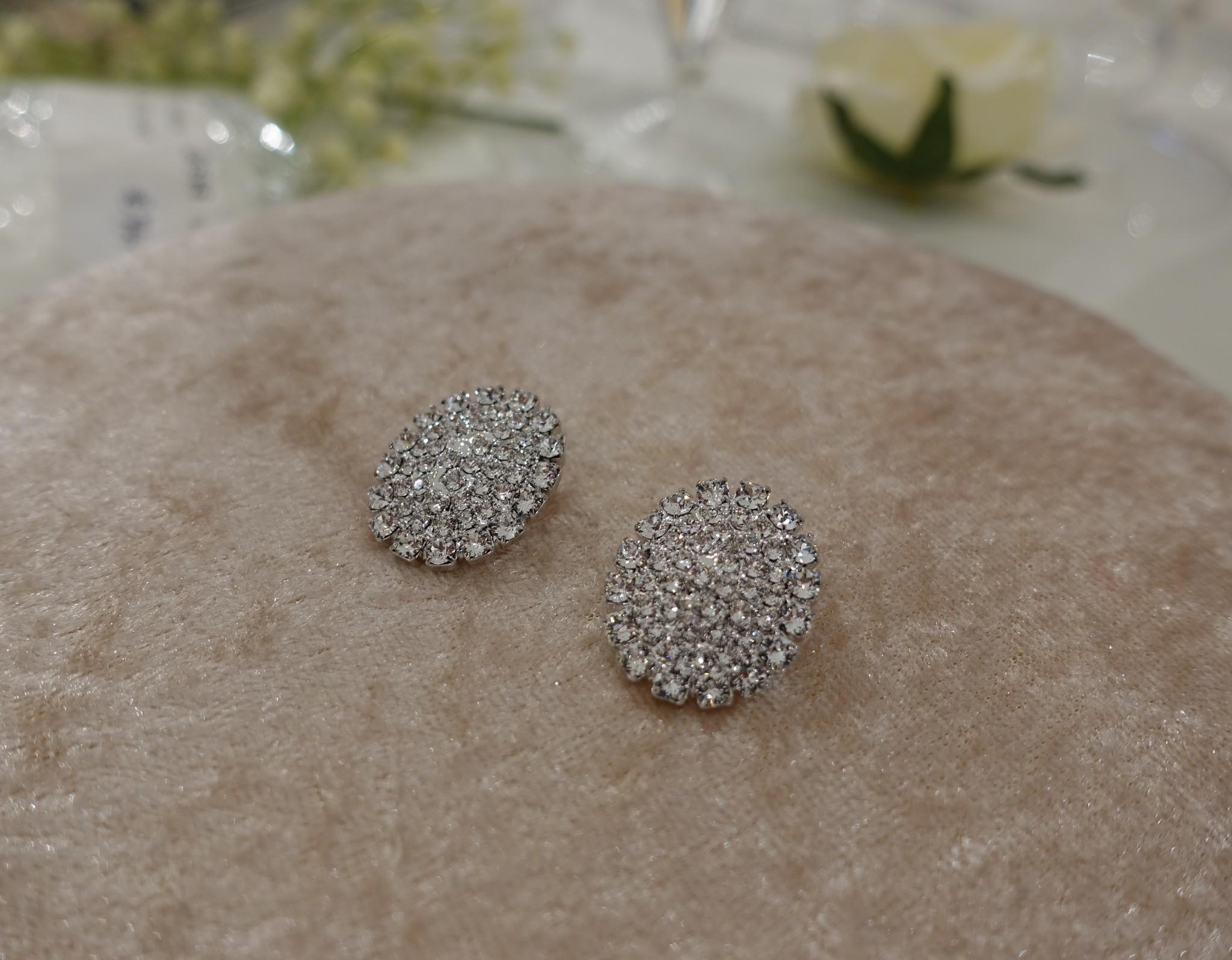 Ovaal vormige diamanten knopjes-1