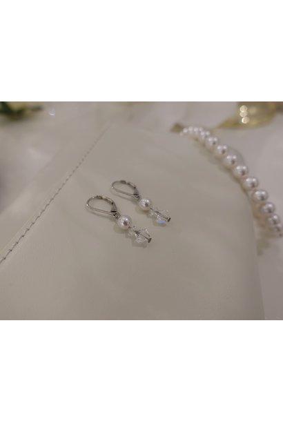 Hangers met parel en kristal