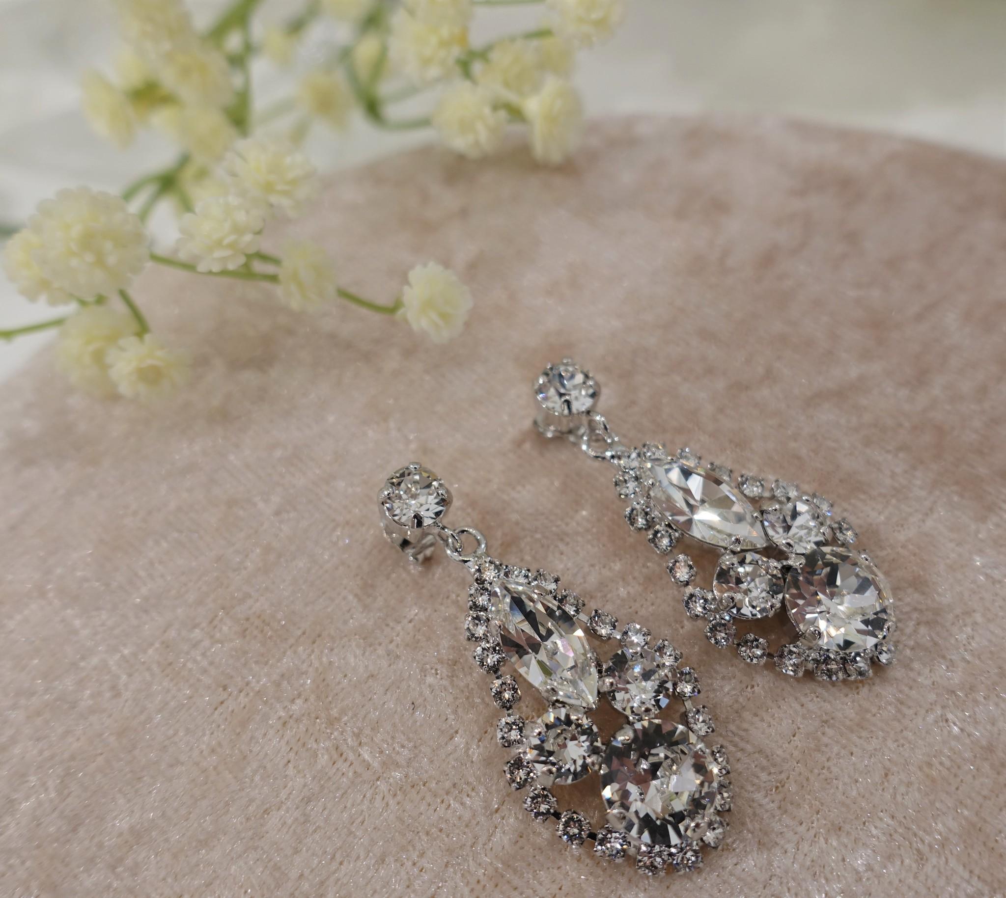 Zilveren diamanten hangers-1