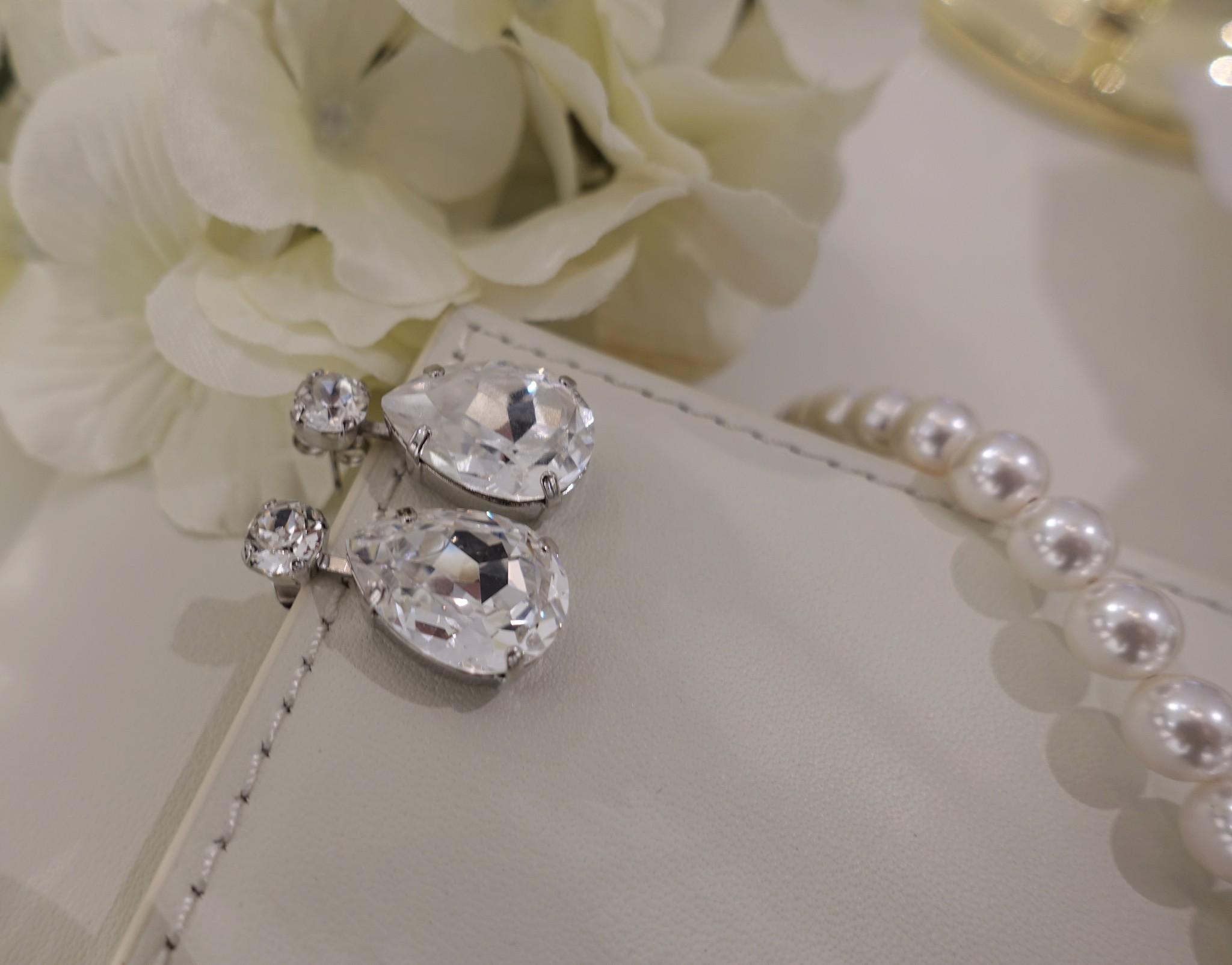 Zilveren diamanten knop-1