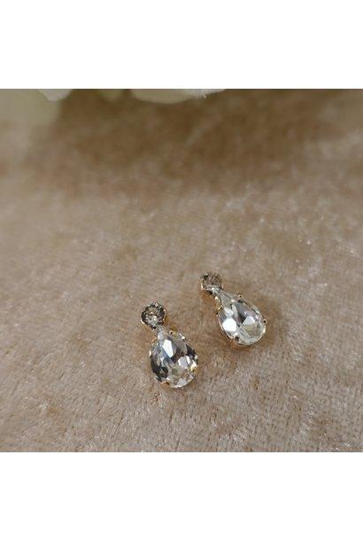 Diamanten druppel knopjes