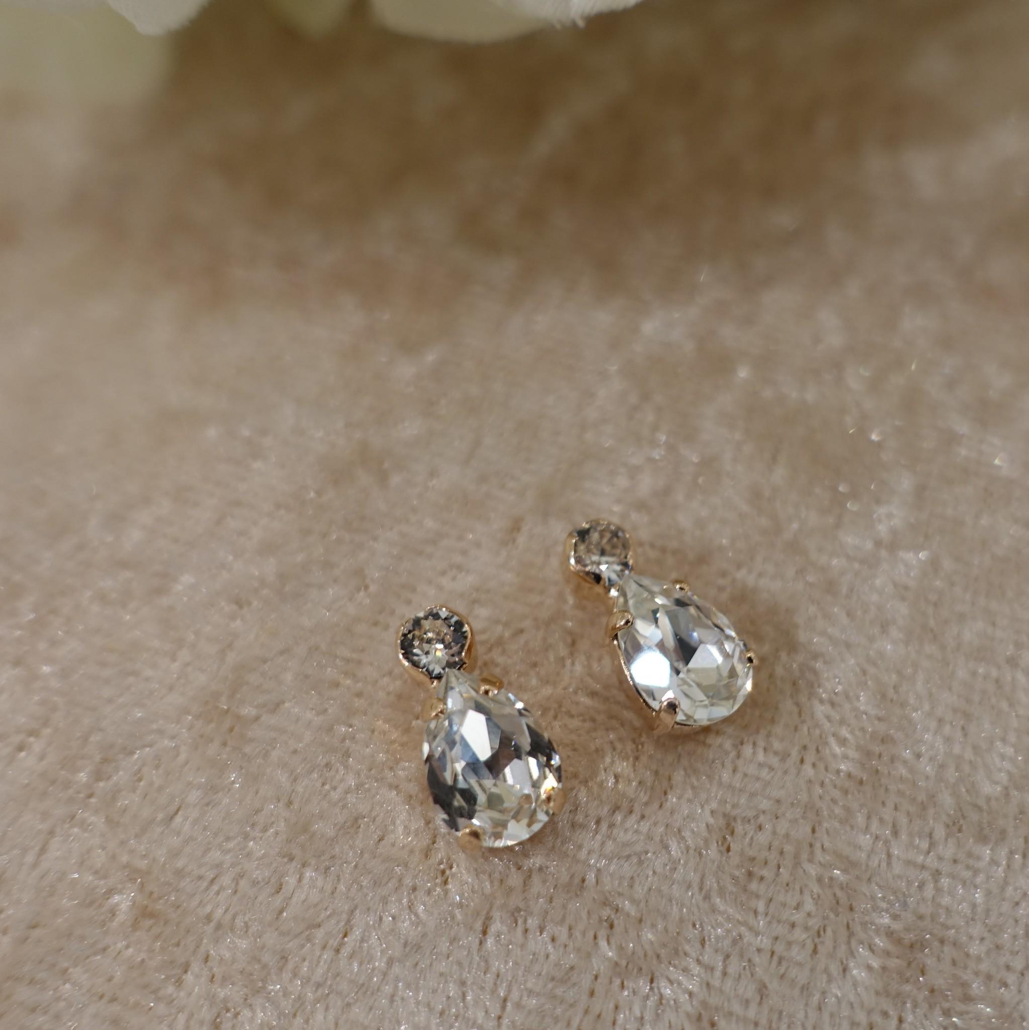 Diamanten druppel knopjes-1