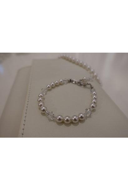 Parel armband met kristal