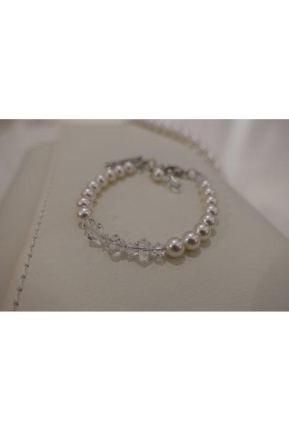 Parel met kristal armband