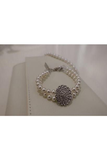 Parel armband met diamant