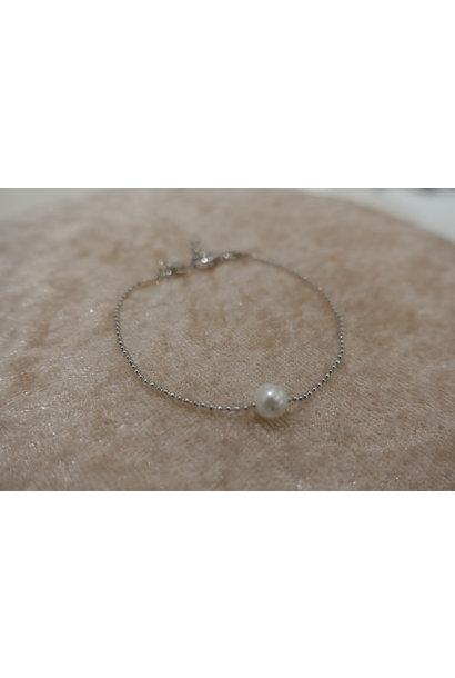 Minimalistische zilveren armband