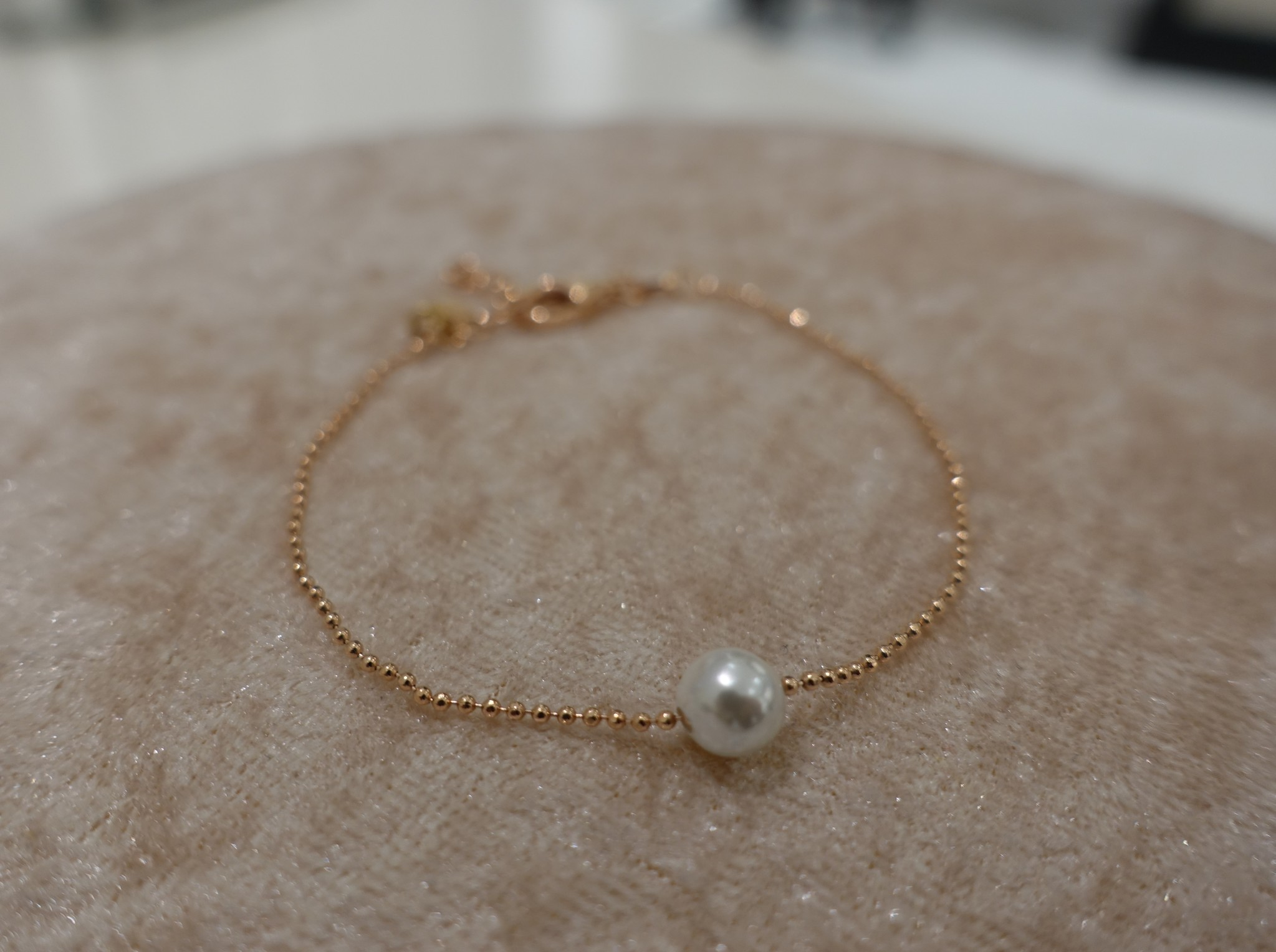 Minimalistische armband met parel, rose-1