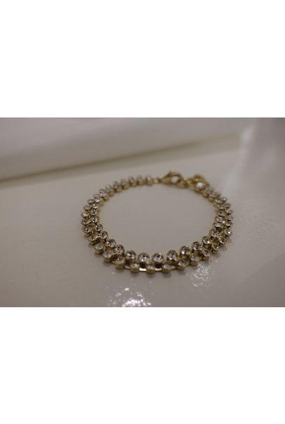 Gouden diamanten armband, dubbel