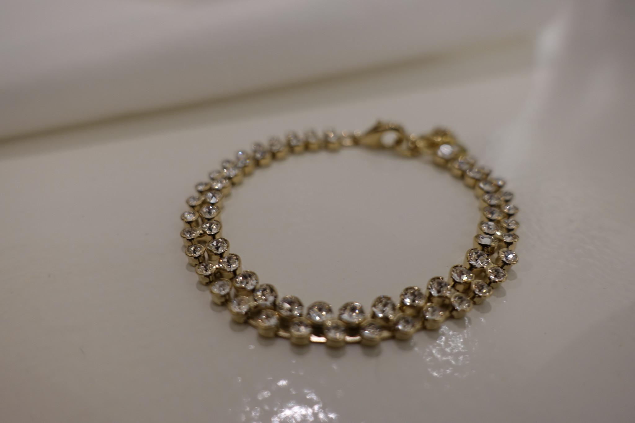 Gouden diamanten armband, dubbel-1
