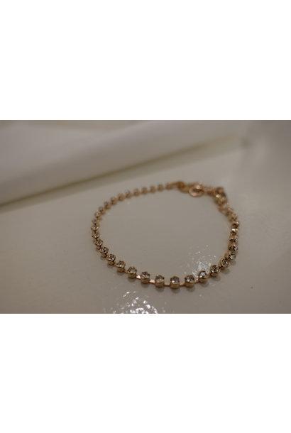Small rose diamanten armband, enkel