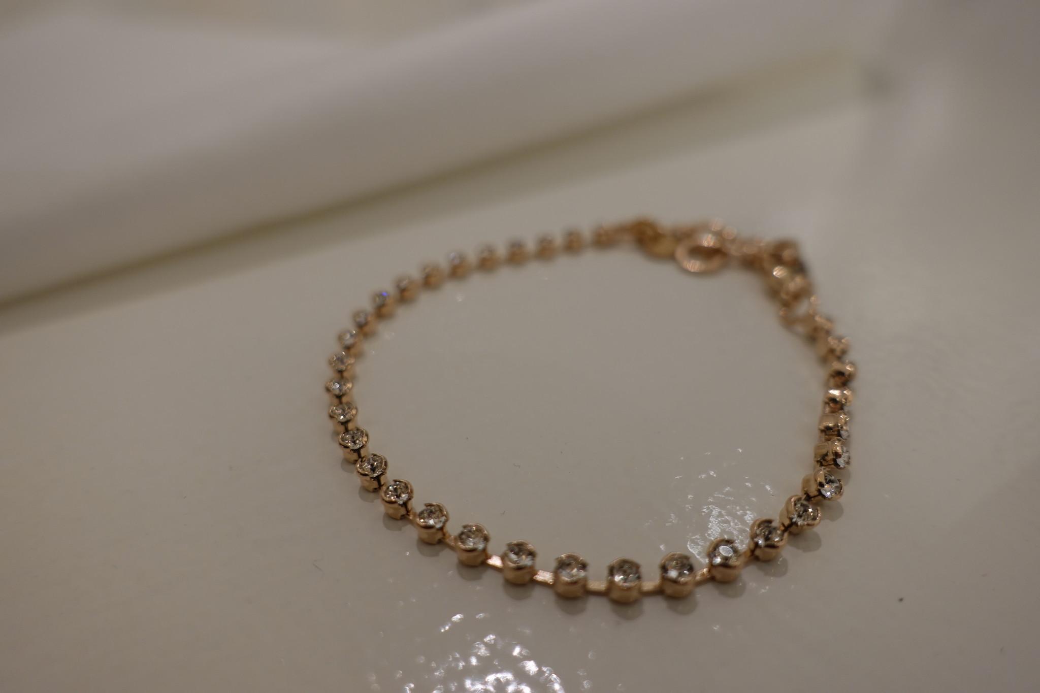 Small rose diamanten armband, enkel-1