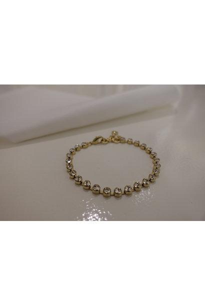 Gouden diamanten armband, enkel