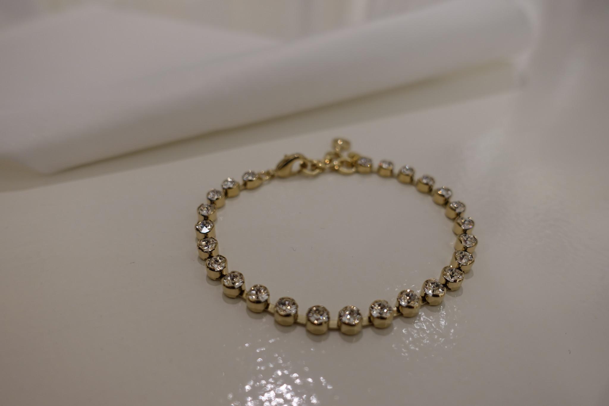 Gouden diamanten armband, enkel-1