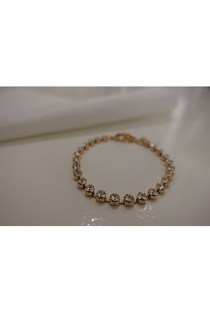 Rose armband met diamantjes