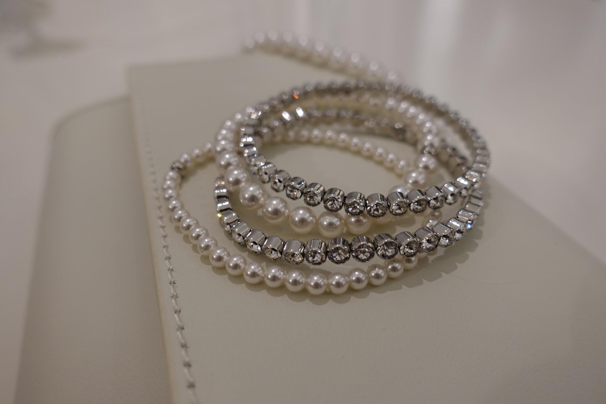 Set armbandjes, zilver kleurig-1