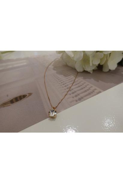 Rose ketting met diamanten hanger