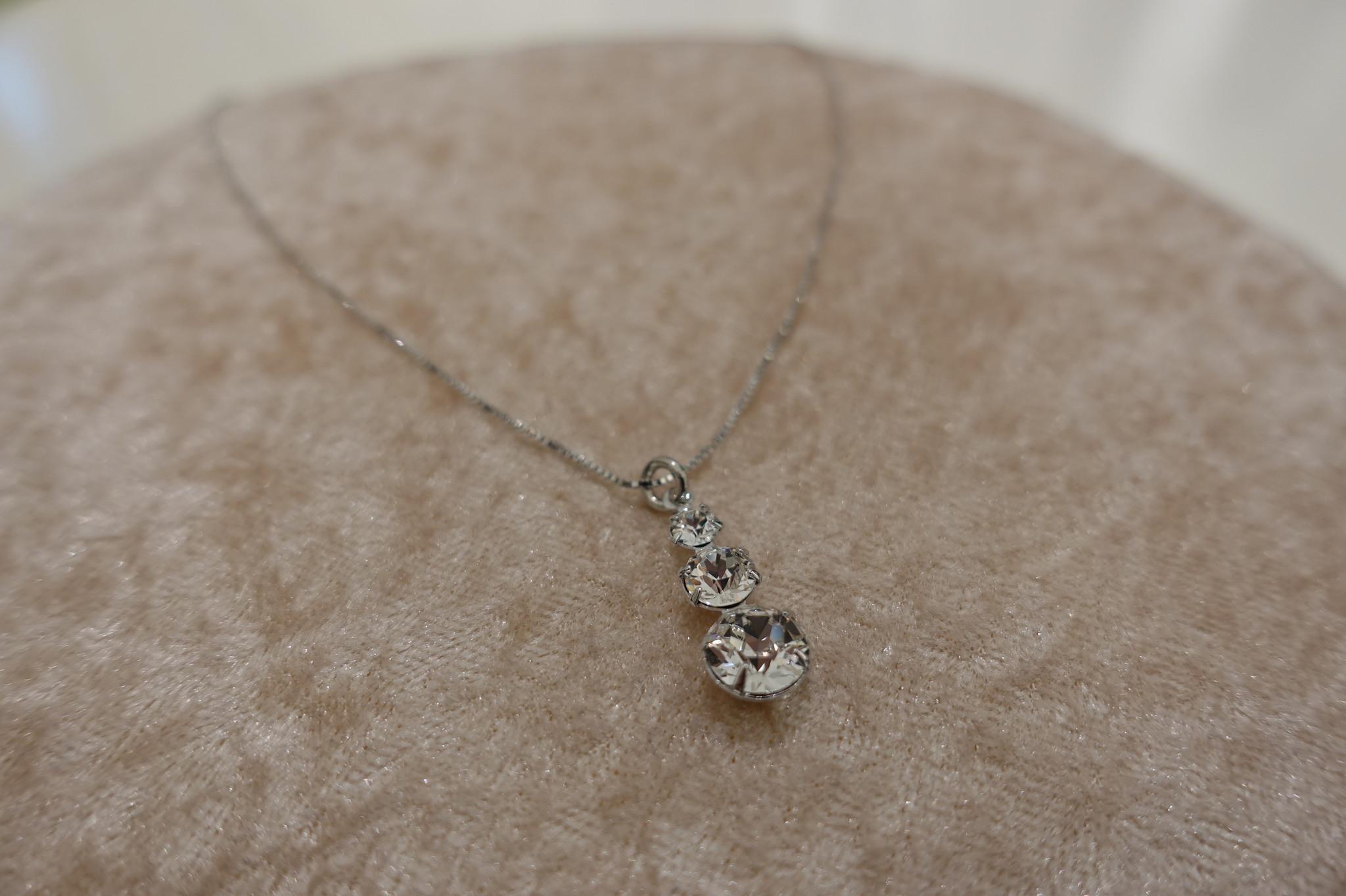 Zilveren ketting met diamantjes-1