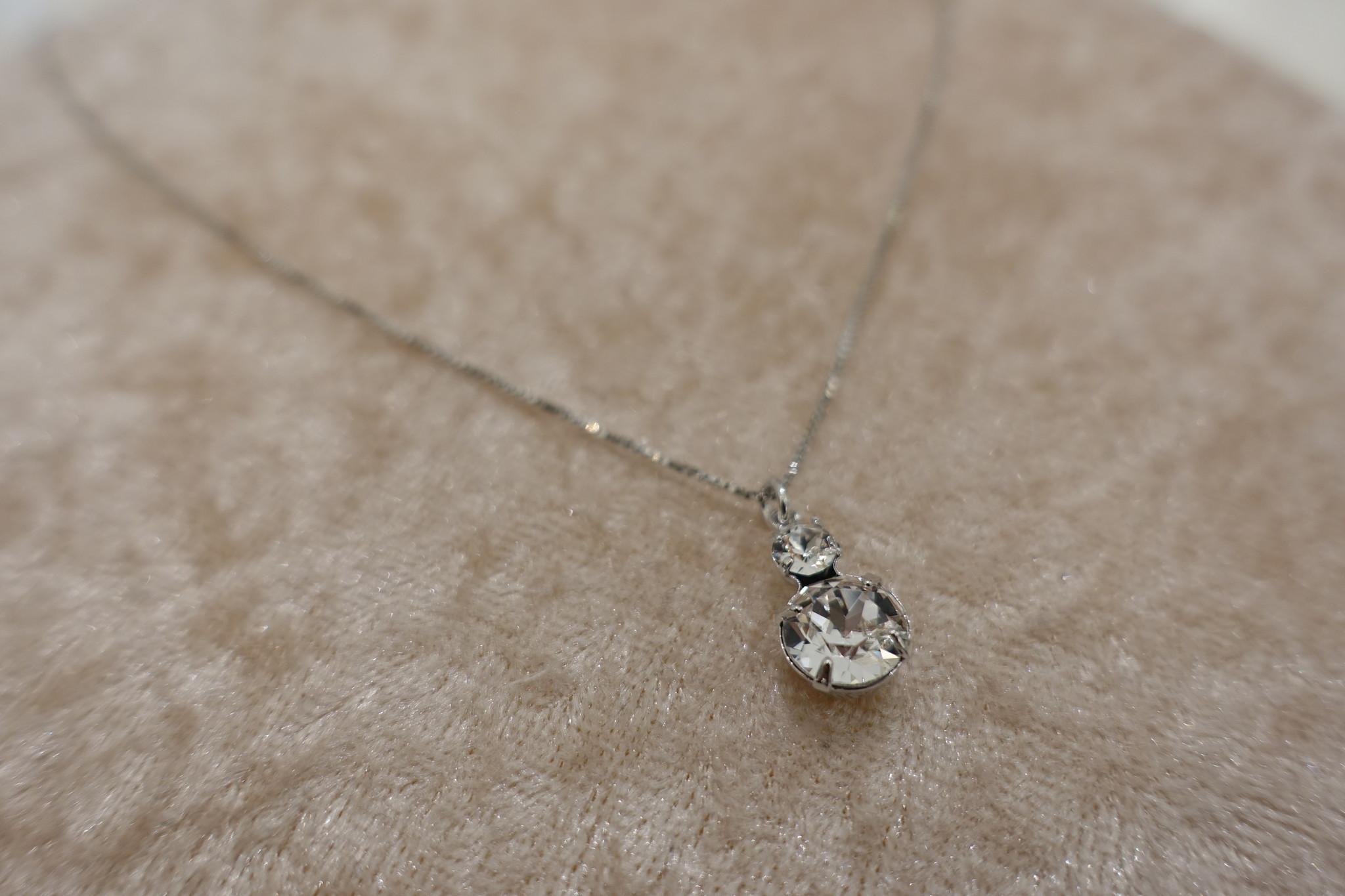 Zilveren ketting met diamantjes, 2-1