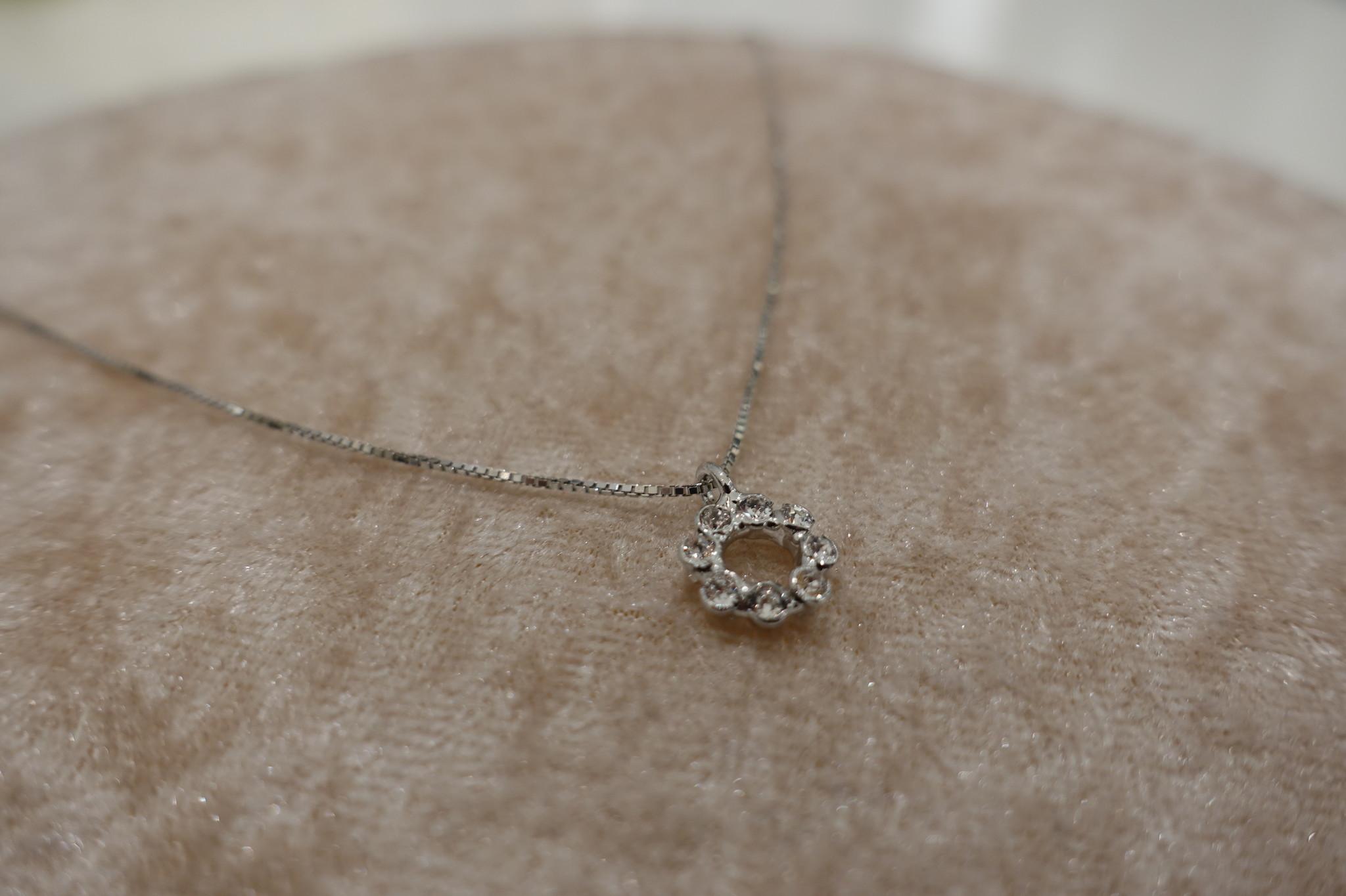 Zilveren ketting met rond hangertje-1